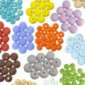 Plain Matt Opaque Glass Beads