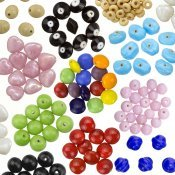 Plain Shiny Opaque Glass Beads