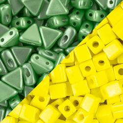 Green and Yellow Seed Beads