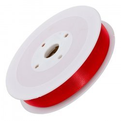Red 15mm Double Sided Satin Beading Ribbon 25 Metre Reel