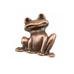 Antique Copper Frog Charm Pendant 19x22mm PK1