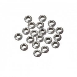 Round Silver Spacer Beads 5x2mm (PK20)