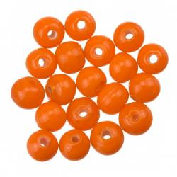 Shiny Orange Round Glass Bead 6mm PK20