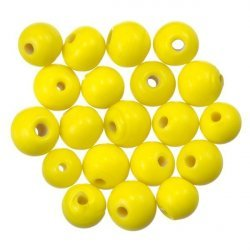 Shiny Yellow Round Glass Beads 6mm PK20