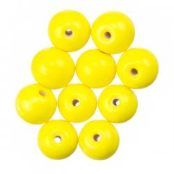 Shiny Yellow Round Glass Beads 8mm PK10