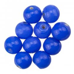 Shiny Dark Blue Round Glass Beads 8mm PK10