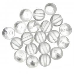 Transparent Clear Round Glass Beads 6mm PK20