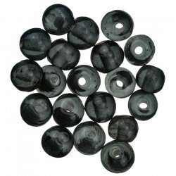Handmade Transparent Grey Round Glass Beads 6mm (PK20)