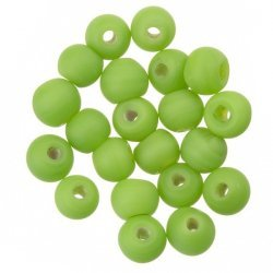 Matt Green Round Glass Beads 6mm (PK20)