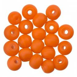 Matt Orange Round Glass Beads 6mm (PK20)