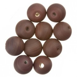 Matte Brown Round Glass Beads 10mm PK10