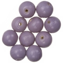 Shiny Lilac Round Glass Beads 12mm PK10