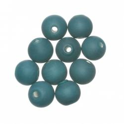 Matte Teal Round Glass Beads 8mm PK10