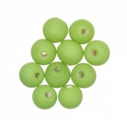 Matt Green Round Glass Beads 8mm PK10