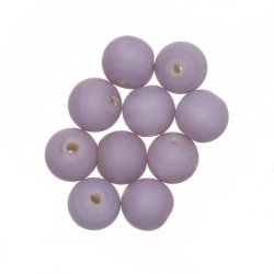 Matt Purple Round Glass Beads 8mm PK10