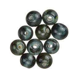 Handmade Transparent Grey Round Glass Beads 8mm (PK10)