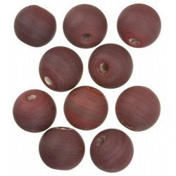 Dark Red Matte Round Glass Beads 14mm PK10