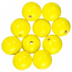Shiny Bright Yellow Round Glass Beads 12mm (PK10)