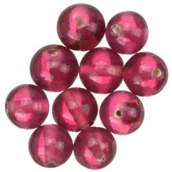 Transparent Light Pink Round Glass Beads 12mm (PK10)