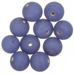 Matte Opaque Purple Round Glass Beads 12mm (PK10)