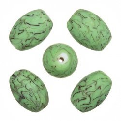 Sliced Green Round Glass Beads 12mm Pack of 6 A70//1 Frosted Trans