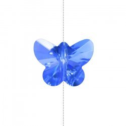 Crystal Faceted AAA Quality Blue Butterfly Bead 14mm
