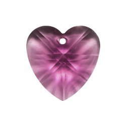 Crystal Faceted AAA Quality Purple Heart Pendant 18x9mm
