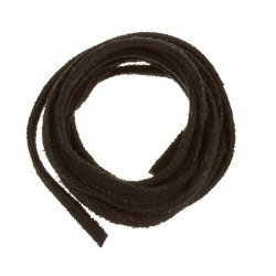 Black Flat Suede Leather Cord 1m Rough Finish 3.5x1.5mm