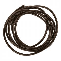 Round Genuine Leather Cord Rough Finish Black 2.5mm 1m Length A77//3