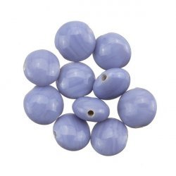 Shiny Disc Shape Smartie Lilac Glass Beads 12x6mm PK10