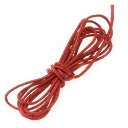 Red Jewellery Beading Cotton Cord 1mm - 1 Metre Length