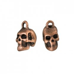 Red Copper Skull/Head Metal Pendant Charms 15mm (PK2)