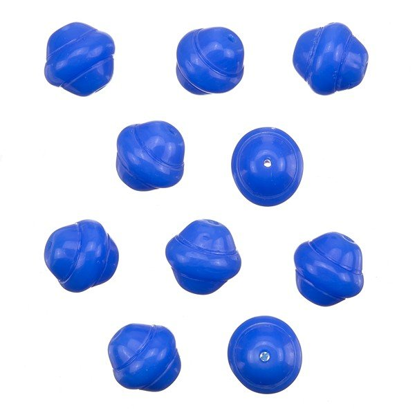 Fancy Saturn Blue Round Glass Beads 10mm (PK10)