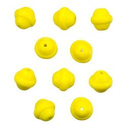 Fancy Saturn Yellow Round Glass Beads 10mm (PK10)