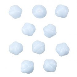 Fancy Saturn Light Blue Round Glass Beads 10mm (PK10)