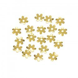 6mm Gold Plated Flower Bead End Caps - 6 Petals (PK20)