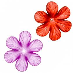 Acrylic Flower Charm Pendants 33mm Mixed Colours PK2