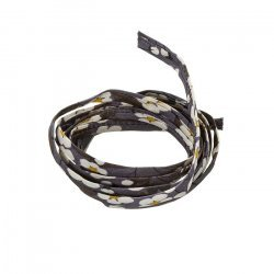 Liberty of London Grey Print 4mm Ribbon Cord Mitsi D 1m