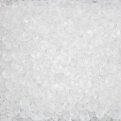 SuperDuo™ Twin Hole Crystal Matte Czech Seed Beads 24g