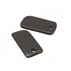 Black Bone Blank Rectangle Dog Tag Pendant 30x15mm - PK2