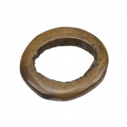 Two Hole Brown Bone Tribal Ring Bead Pendant 40mm PK1