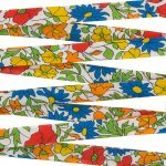 Liberty of London 10mm Bias Ribbon Poppy & Daisy M - 1m