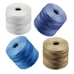 Beadsmith S-Lon Tex 210 Nylon Cord 0.5mm Chino Mix PK4