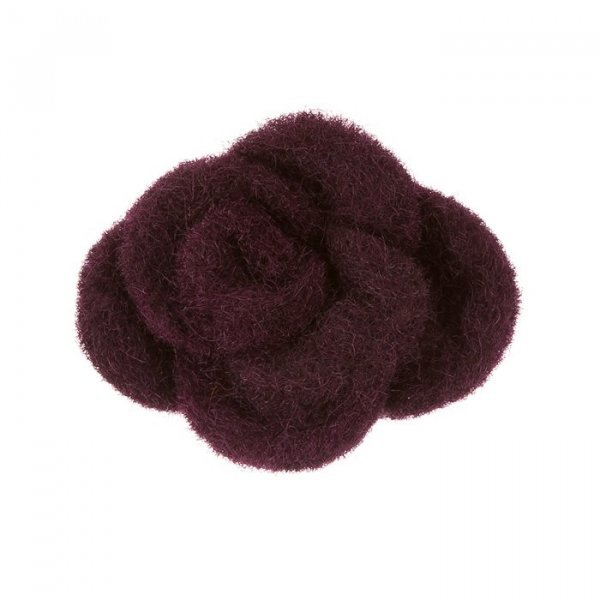 Burgundy Brooch Hair Accessory Fabric Felt Flower 45mm