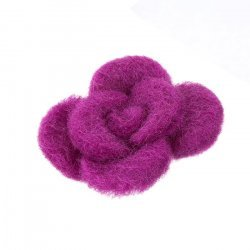 Cerise Felt Fabric Flower Brooch (Hair Accessory) 45mm