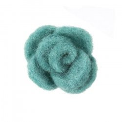 Brooch Hair Accessory Green Fabric Felt Flower 45mm PK1