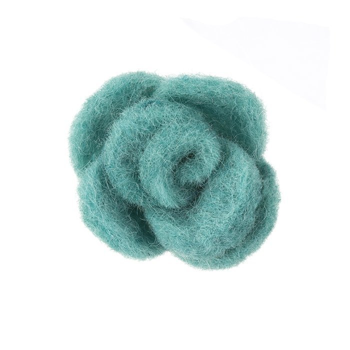 Blue Brooch Hair Accessory Fabric Felt Rose Flower 45mm Pack of 1 B54//5