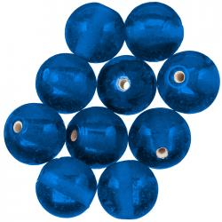 Handmade Transparent Blue Round Glass Beads 14mm - PK10
