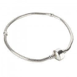 Snake Chain Bracelet With Magnetic Snap Clasp 22cm PK1