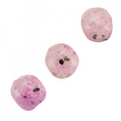 Ceramic Pink Pebble Texture Irregular Round Beads 14mm